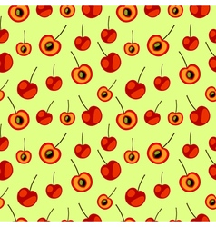 Bright fruits chaotic background with cherry vector
