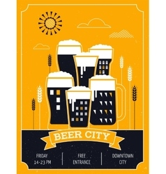 Beer festival in the city event poster vector