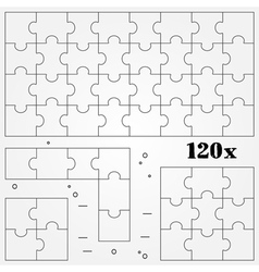 Puzzles thin line for web and mobile modern minima vector