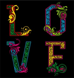 Cute love typography vector