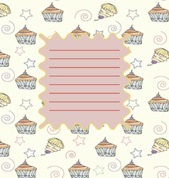 School notebook cover postcard invitation template vector