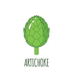 Artichoke icon in flat style on white background vector
