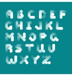 abstract alphabet from bubbles vector image vector image