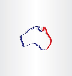 australia stylized map icon symbol vector image