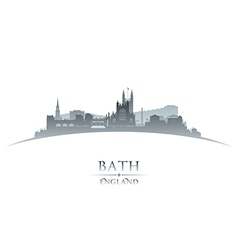 Bath England city skyline silhouette vector image