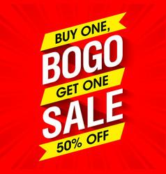 bogo sale banner design template vector image vector image