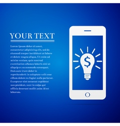 Business light bulb on smartphone screen user vector