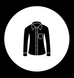 Business shirt simple black isolated icon eps10 vector