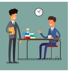 Concept of business relationships vector image