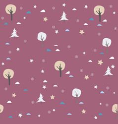 cute trees landscape background with trees vector image vector image