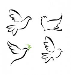 Dove illustration vector