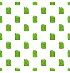 Green fuel canister pattern cartoon style vector