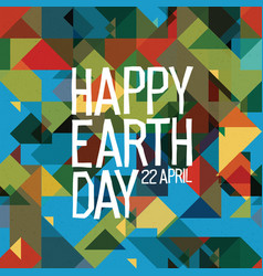Happy earth day poster 22 april abstract nature vector