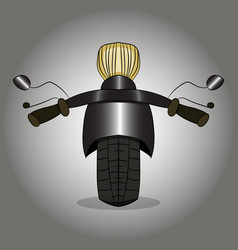 Image of a road motorcycle is a front view vector