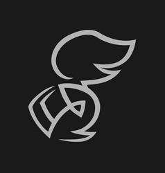 knight head in helmet symbol icon vector image