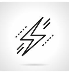 Lightning bolt symbol black line icon vector image