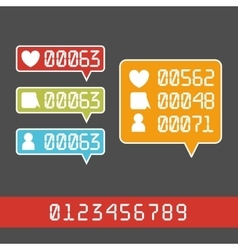 Like Counter Notificatio vector image