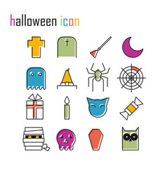 line icons halloween icon modern infographic logo vector image