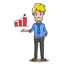 Meeting businessman character design style vector