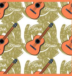 pattern seamless guitar-03 vector image