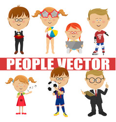 people children set vector image vector image
