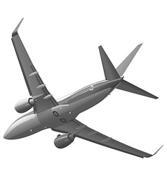 Private plane in the sky vector