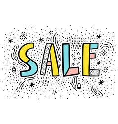 Sale doodle sign on white background vector