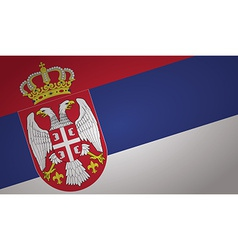 serbia flag vector image vector image