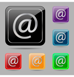 Set buttons e mail vector image vector image