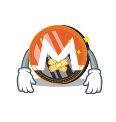 Silent monero coin character cartoon vector