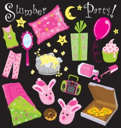 slumber party vector image vector image