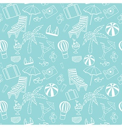 Travel touristic seamless pattern vector image