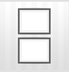 two black photo frame vector image vector image