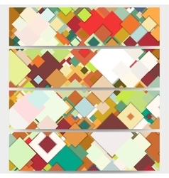 Web banners collection abstract header layouts vector image