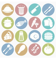 white icons food vector image vector image