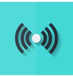 Wireless web icon Flat design vector image