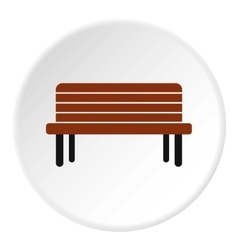 Street bench icon flat style vector
