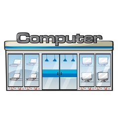 a computer store vector image