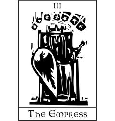 Empress Tarot Card vector image