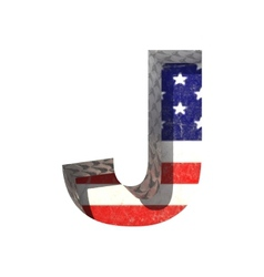 American cutted figure j paste to any background vector