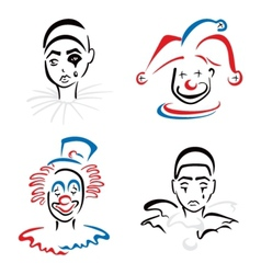 Circus artists vector image