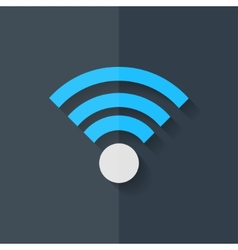 Wireless web icon flat design vector