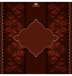Royal frame with damask ornament vector image
