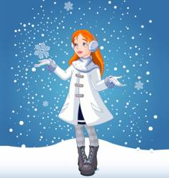 Snow girl vector