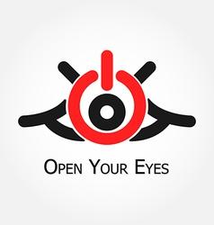 Open your eyes vector