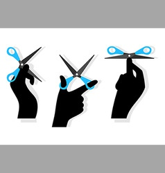 cut hands vector image