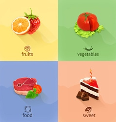 Food concept set vector