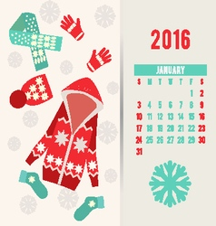Calendar for fashion clothes vector