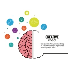 Creative mind and idea icon design vector