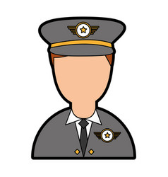 Army officer avatar character vector